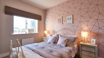 Bedroom at the HighFields showhome
