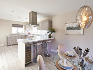 High specification kitchen with drinks fridge