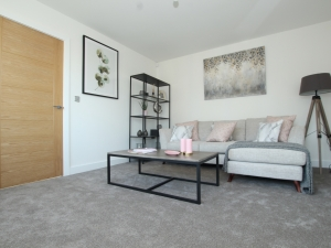 Spacious living room in new home at HighFields, Clowne