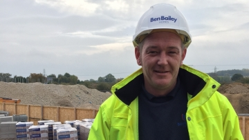 Ben Bailey Homes site manager, Liam Platts at HighFields, Clowne