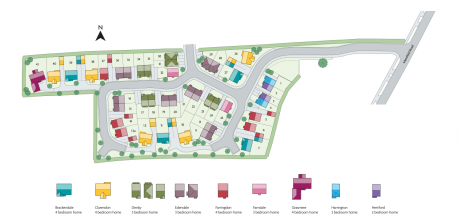 Site plan of HighFields development, Chesterfield
